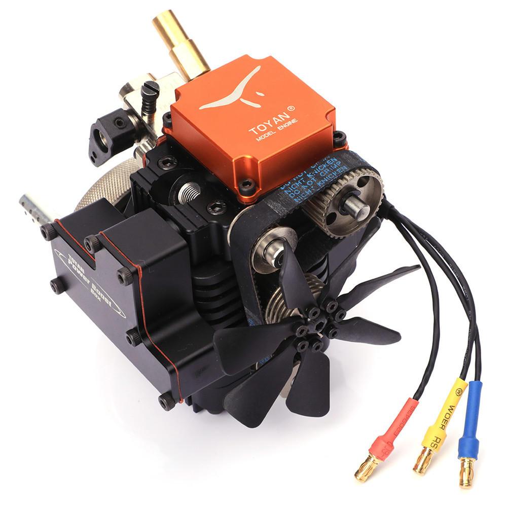 4 स्ट्रोक आरसी इंजन गैसोलीन मॉडल इंजन किट आरसी कार बोट एयरप्लेन टोयन FS-S100G (w) के लिए मोटर शुरू