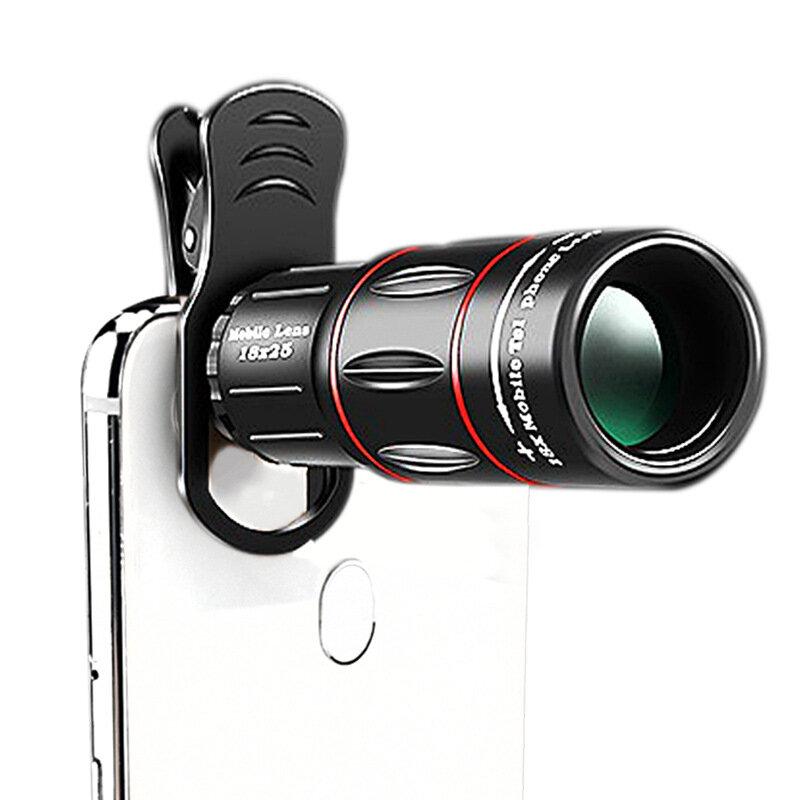 Moge 18x25 HD BAK4 Mobilní objektiv Monokulární vodotěsný telefon dalekohled Outdoor Camping Telescope