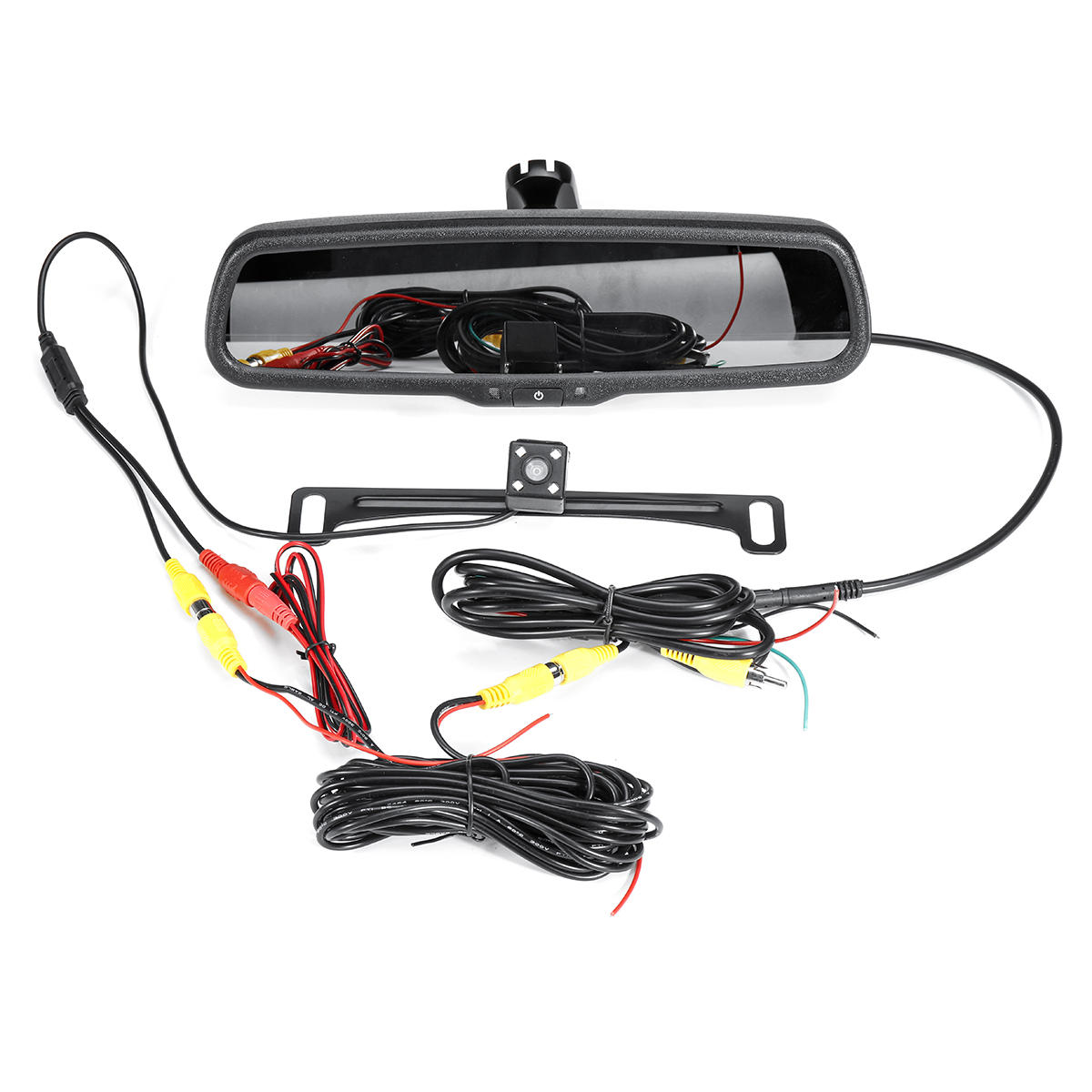 """Master Tailgaters Car Rear View Mirror with 4.3"""" LCD Screen + 170° Backup Camera"""