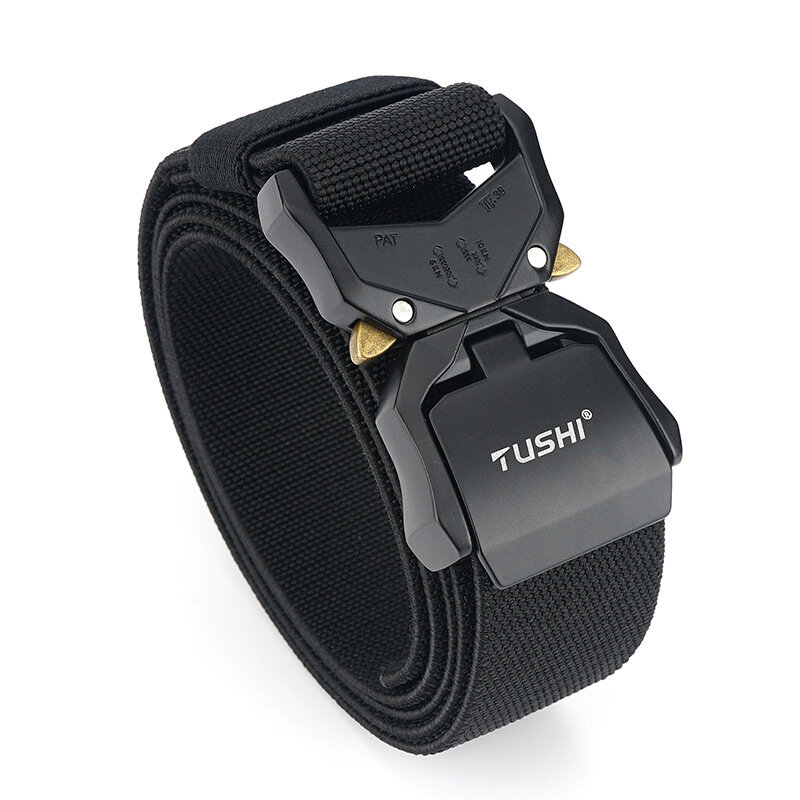 TUSHI NS6 125cm 3.8cm Quick Release Nylon Tactical Belts Business Belt