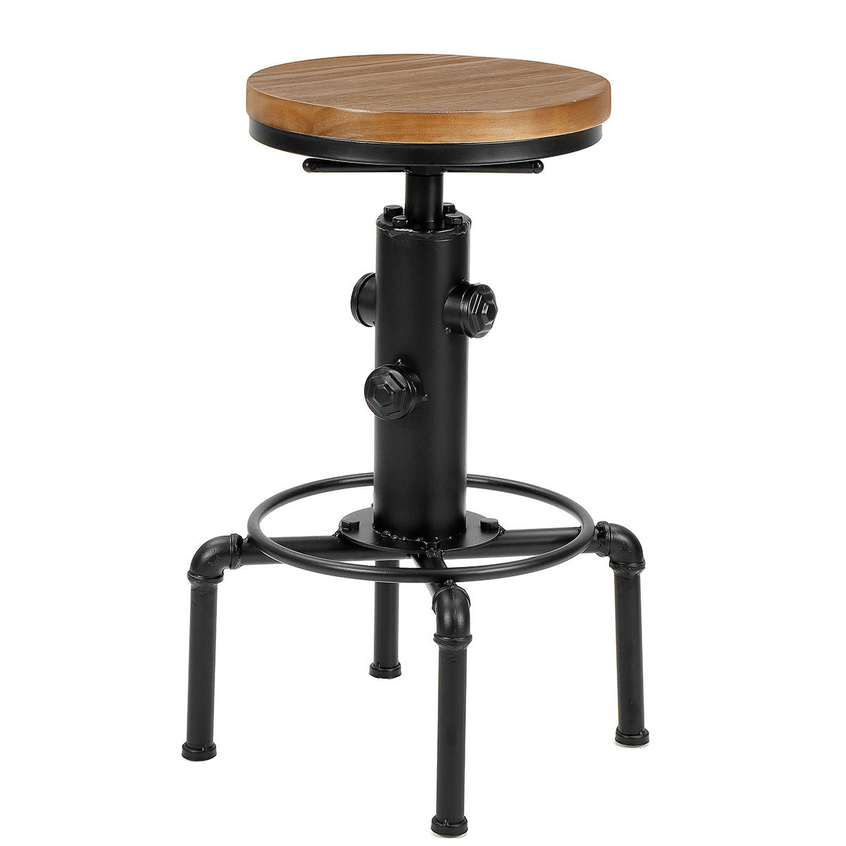 Picture of: Vintage Unique Industrial Fire Hydrant Metal Black Bar Drum Stool Round Wooden Top Kitchen Side Table Adjustable Height Sale Banggood Com Sold Out Arrival Notice