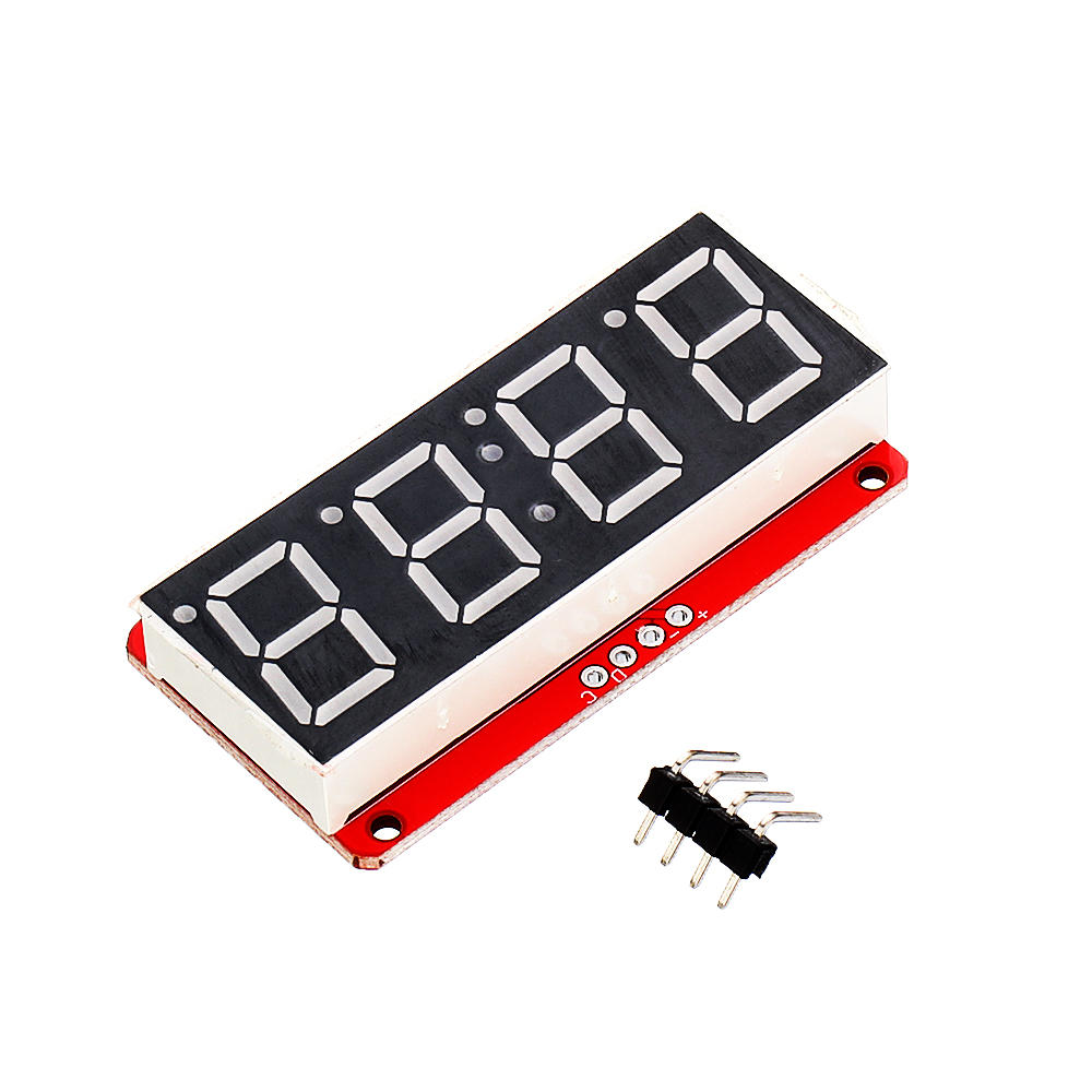4 Digit 7-Segment 0.56' LED Display Tube Decimal 7 Segments HT16K33 I2C Clock Double Dots Module Geekcreit for Arduino - products that work with official Arduino boards