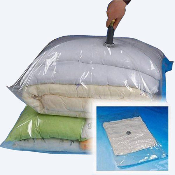 100x80cm Large Space Saver Vacuum Seal Storage Packing Bag for clothes Pillows Throws Seasonal Bedding