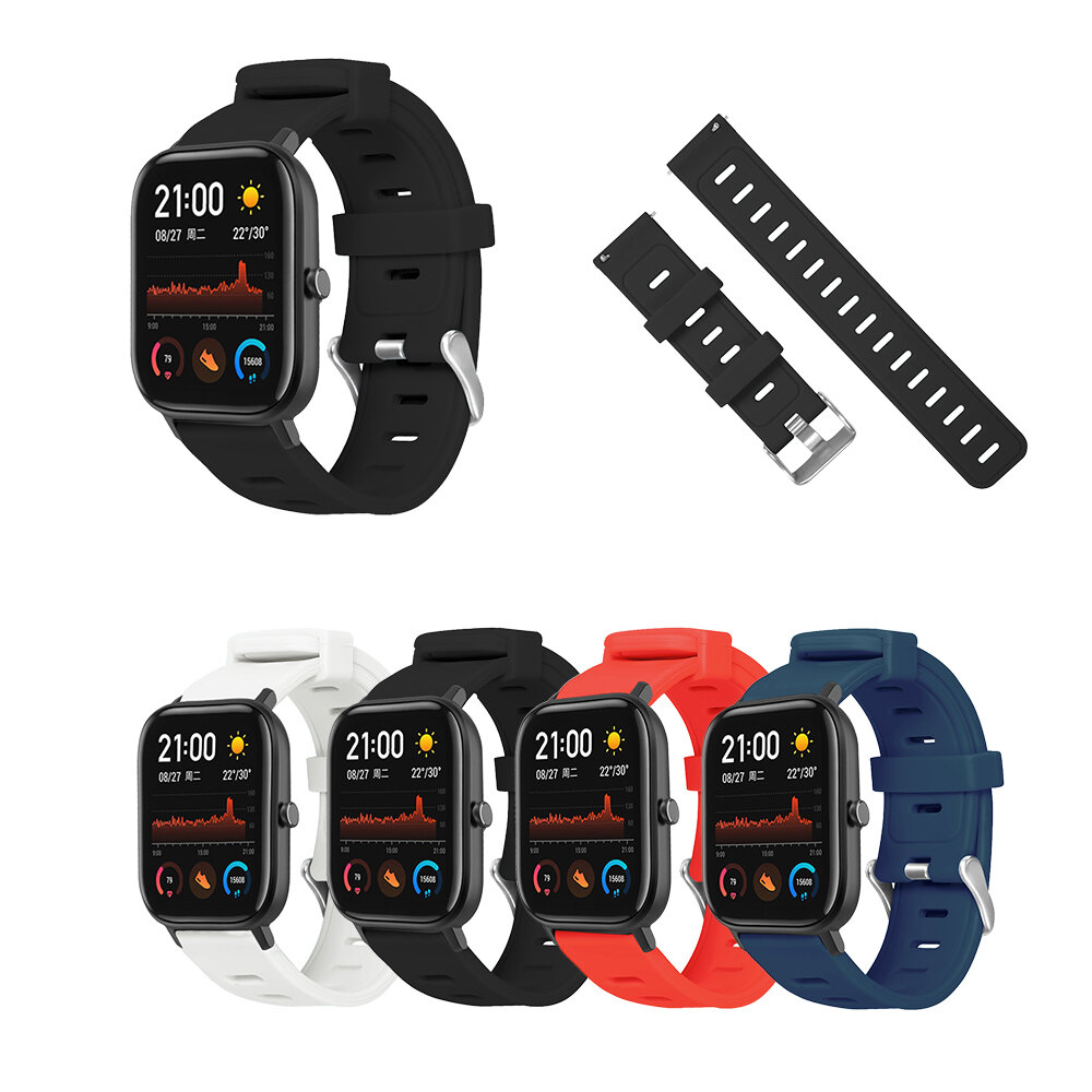 Bakeey 20MM Colorful Silicone Watch Band for Amazfit GTS Smart Watch