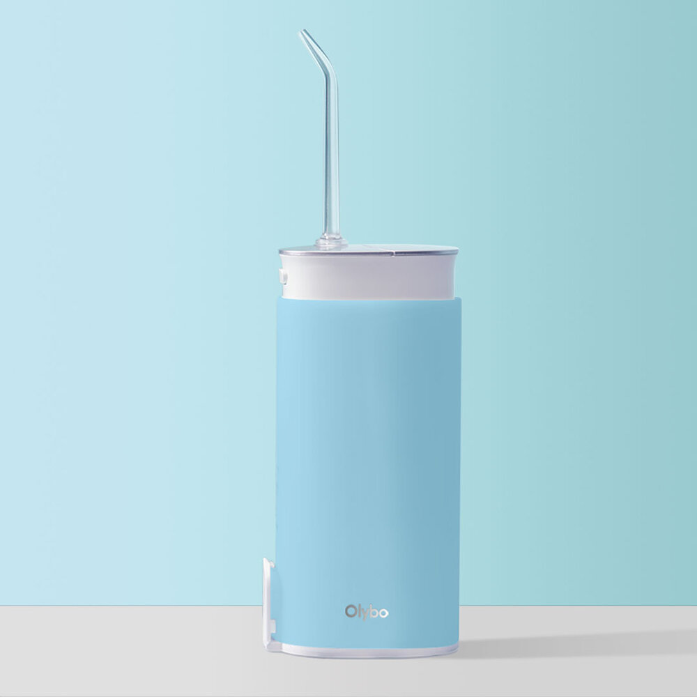 Olybo Retractable Portable Oral Irrigation Water Flosser 360° Rotate Nozzle 3 Cleaning Mode for Travelling Dental Care from Xiaomi Youpin