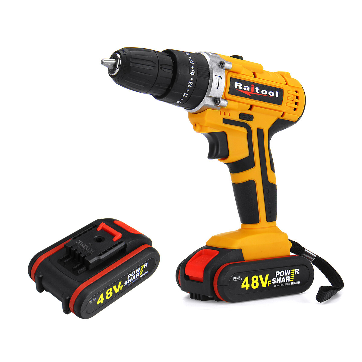 Raitool 48VF Cordless Electric Impact Drill Just $28.99!