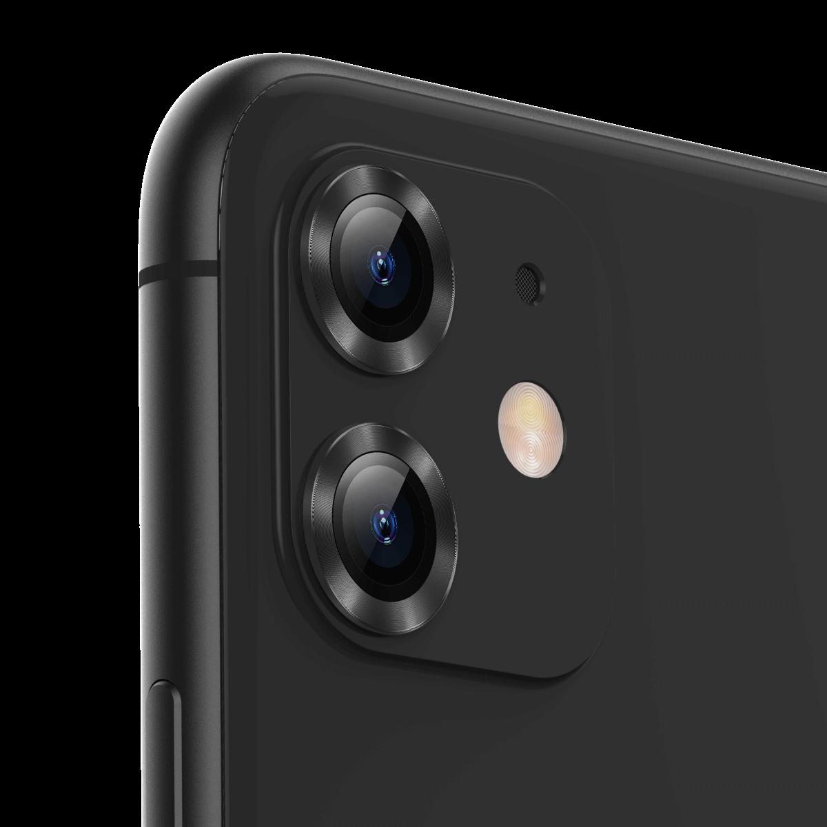 Baseus 2 i 1 Herdet + metall sirkelring Anti-rip telefonlinsebeskytter for iPhone 11