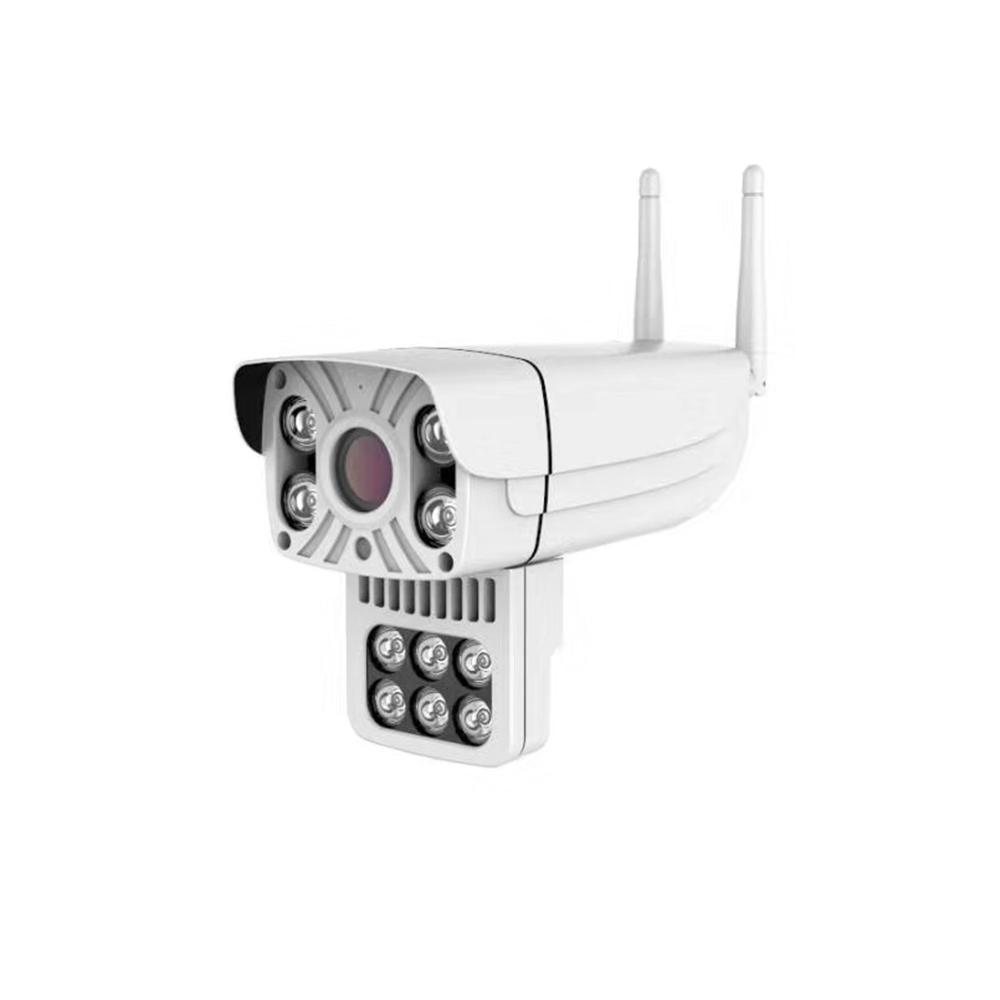 Bakeey 1080P 10 LED IP66 Caméra IP intelligente extérieure Vision nocturne multicolore Suivi automatique IP66 Audio bidirectionnel Dome Moniteur d'extérieur CCTV
