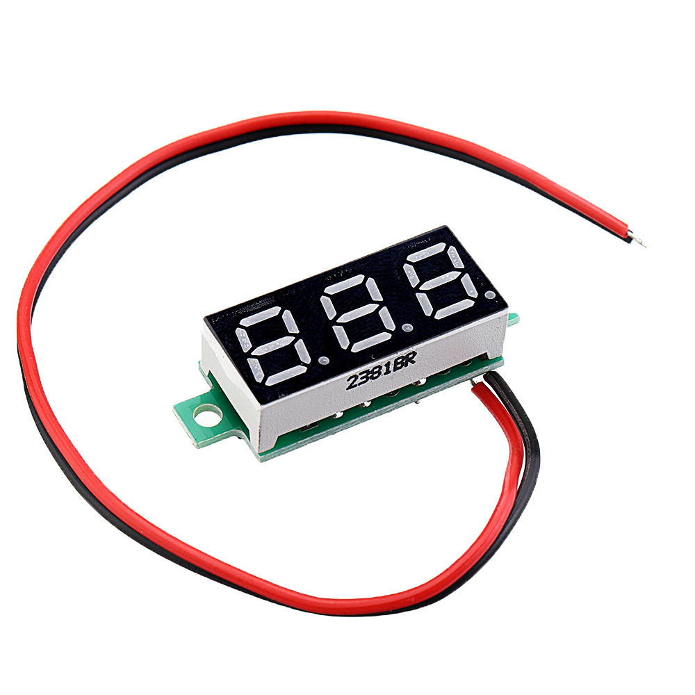 Arduino 10pcs 0.28 Inch Two-wire 2.5-30V Digital Red Display DC Voltmeter Adjustable Voltage Meter фото