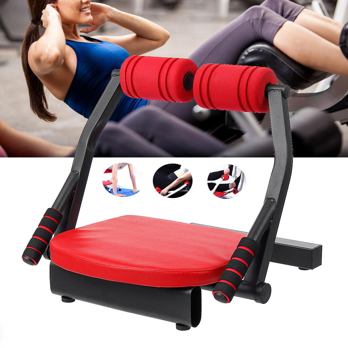 6 In 1 Sit-ups Cruncher Abdominal Trainer Machine Body Fitness Waist Power Exercise Tools