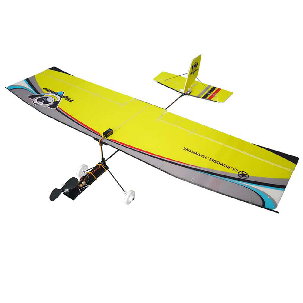 580mm Wingspan Hollow Cup Mini Fixed Wing Glider Trainer Beginner RC Airplane Kit with Motor