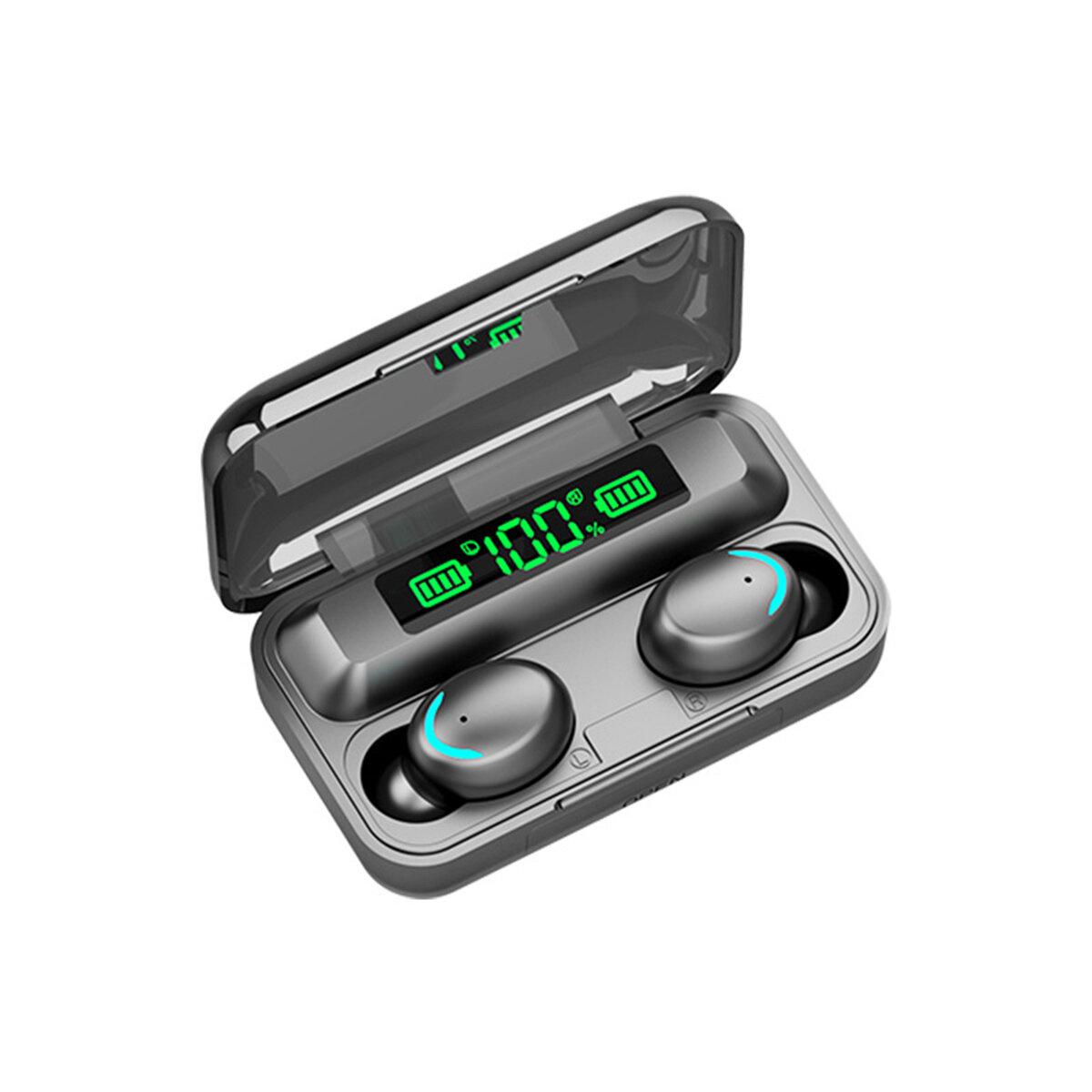 F9-5 TWS bluetooth 5.0 Tiga LED Display Daya Earphone Tahan Air Stereo Earbud Nirkabel dengan Kotak Pengisian