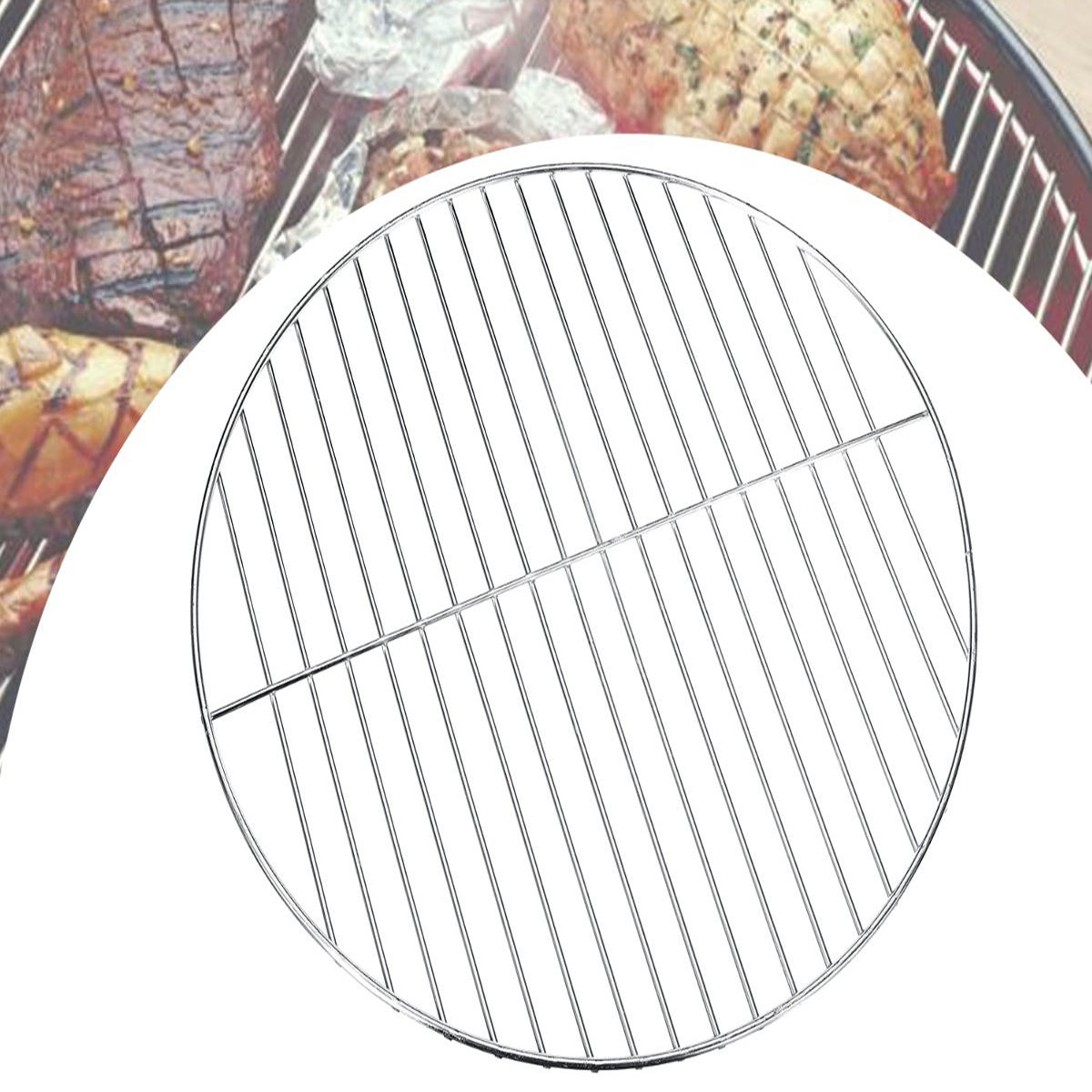 25cm Round BBQ Grill Grate Charcoal BBQ Grill Pan Replacement Metal Cooking Barbecue Mesh Frame