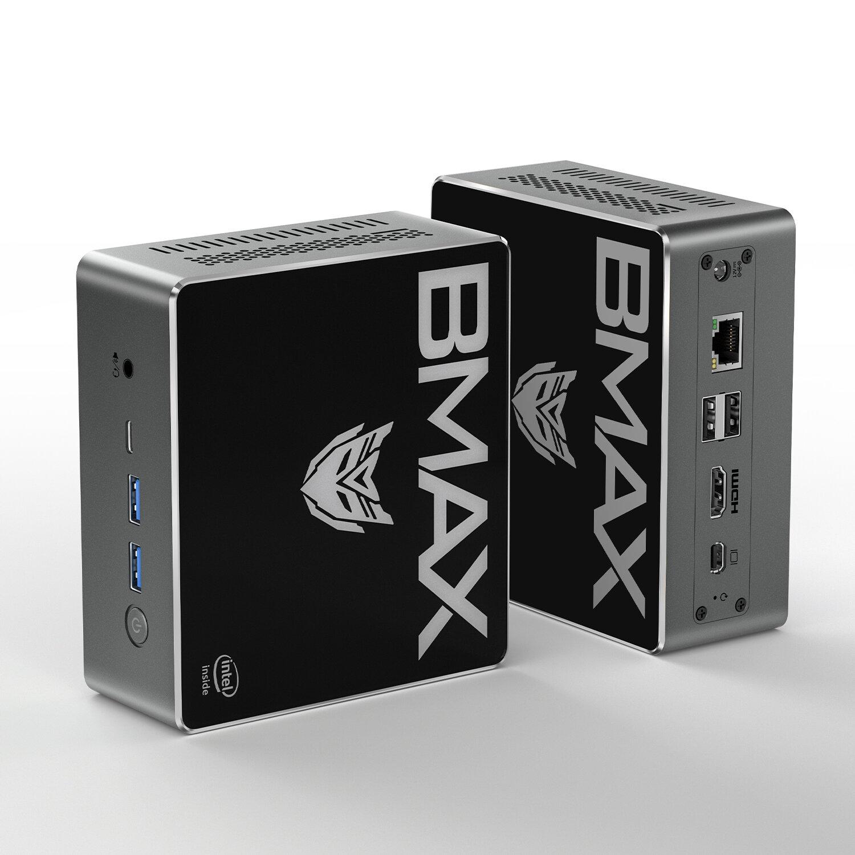 Bmax B4 Pro Mini PC Intel Core i3_8145U 8GB DDR4 256GB NVMe SSD with Two Channel Speaker Intel 9th Gen UHD Graphics 620 Dual Core 2.1GHz to 3.9GHz BT5.0 HDMI Type C Win10 WiFi