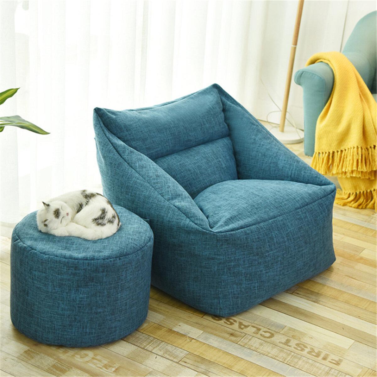 Große Sitzsack-Stuhlhussen Lazy Sofa Indoor Seat Armchair Waschbar Cosy Game Lounger