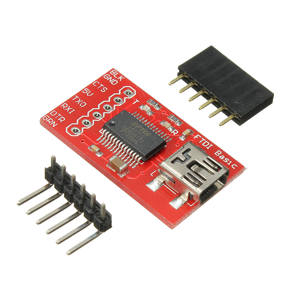 FTDI FT232RL USB 2.0 Seriell Adapter Module 3.3 V 5V TTL Geekcreit for Arduino - products that work with official Arduino boards