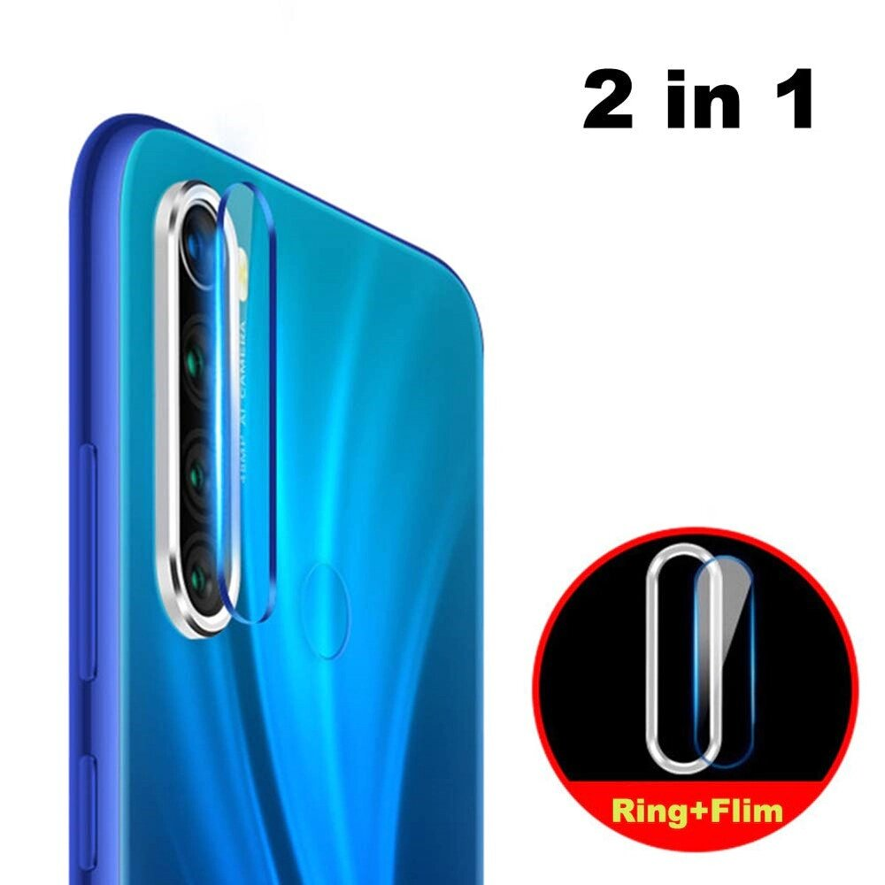 Bakeey Xiaomi Redmi Note 8 Anti-scratch Aluminum Metal Circle Ring + Tempered Glass Rear Phone Lens Protector