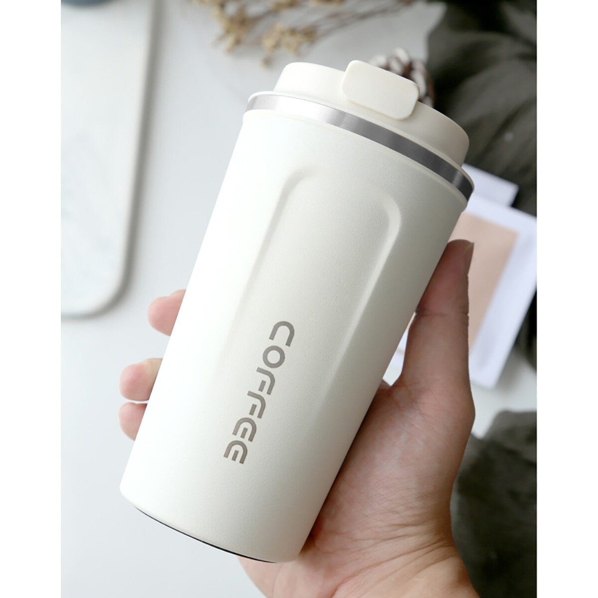 Insulated Tumbler Coffee Travel Mug Vacuum Insulated Coffee Tea Cup Stainless Steel with Screw on Lid Leak Proof Keep Ho фото