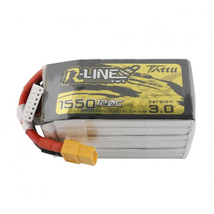 Tattu R-Line Версия 3.0 22.2V 1550mAh 120C 6S Lipo Батарея XT60 Разъем для iFlight Nazgul5 227 мм 6S 5 дюймов FPV Racing