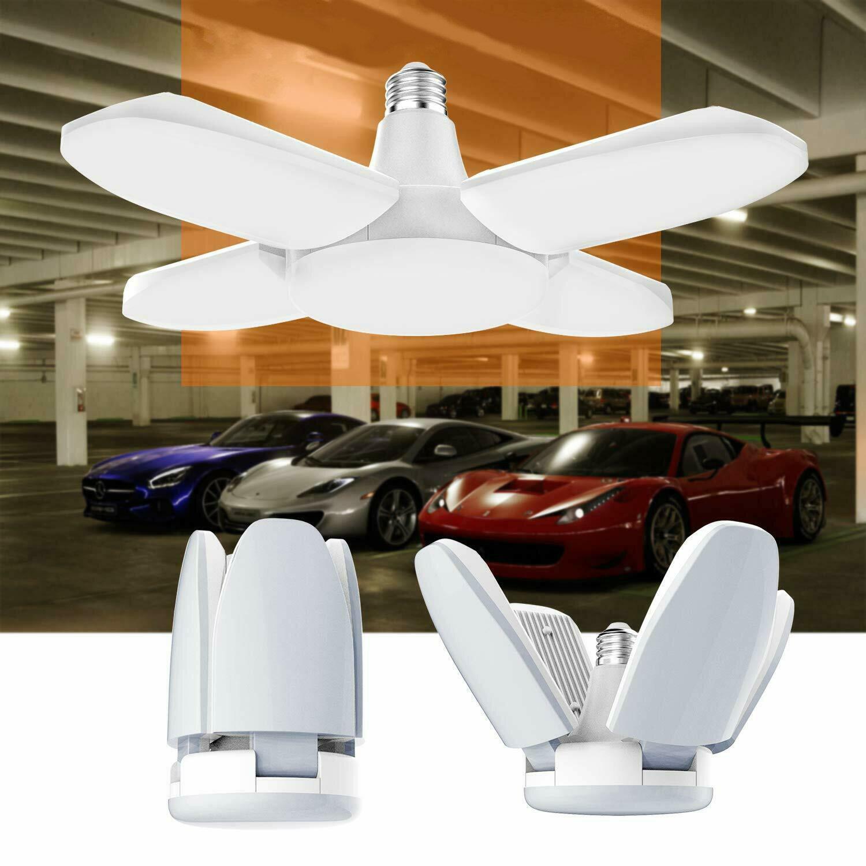 AC85-265V E27 60W Universal Deformable Foldable Garage Lamp 246LED Ceiling Adjustable Shop Light Bulb