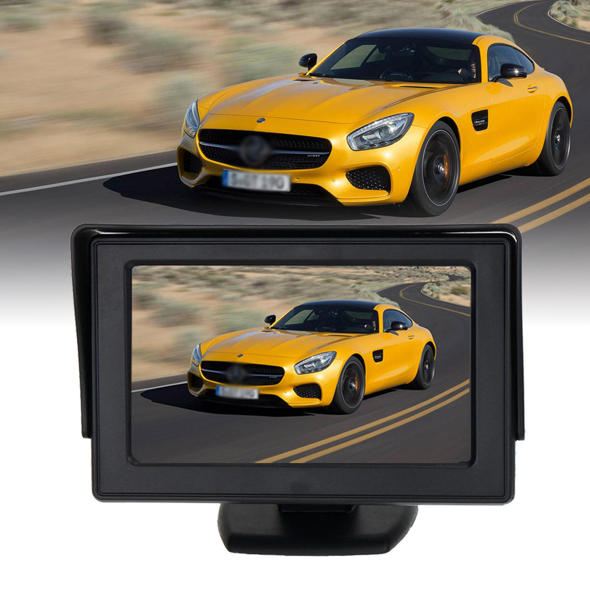4.3 Inch TFT LCD Car Rear View Monitor Night Vision Backup Reverse Camera 170 Degree IP67