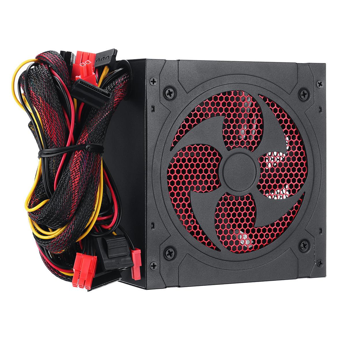 1000W PC silencioso fonte de alimentação jogos PCI SATA ATX 12V 2,31 LED computador ventilador