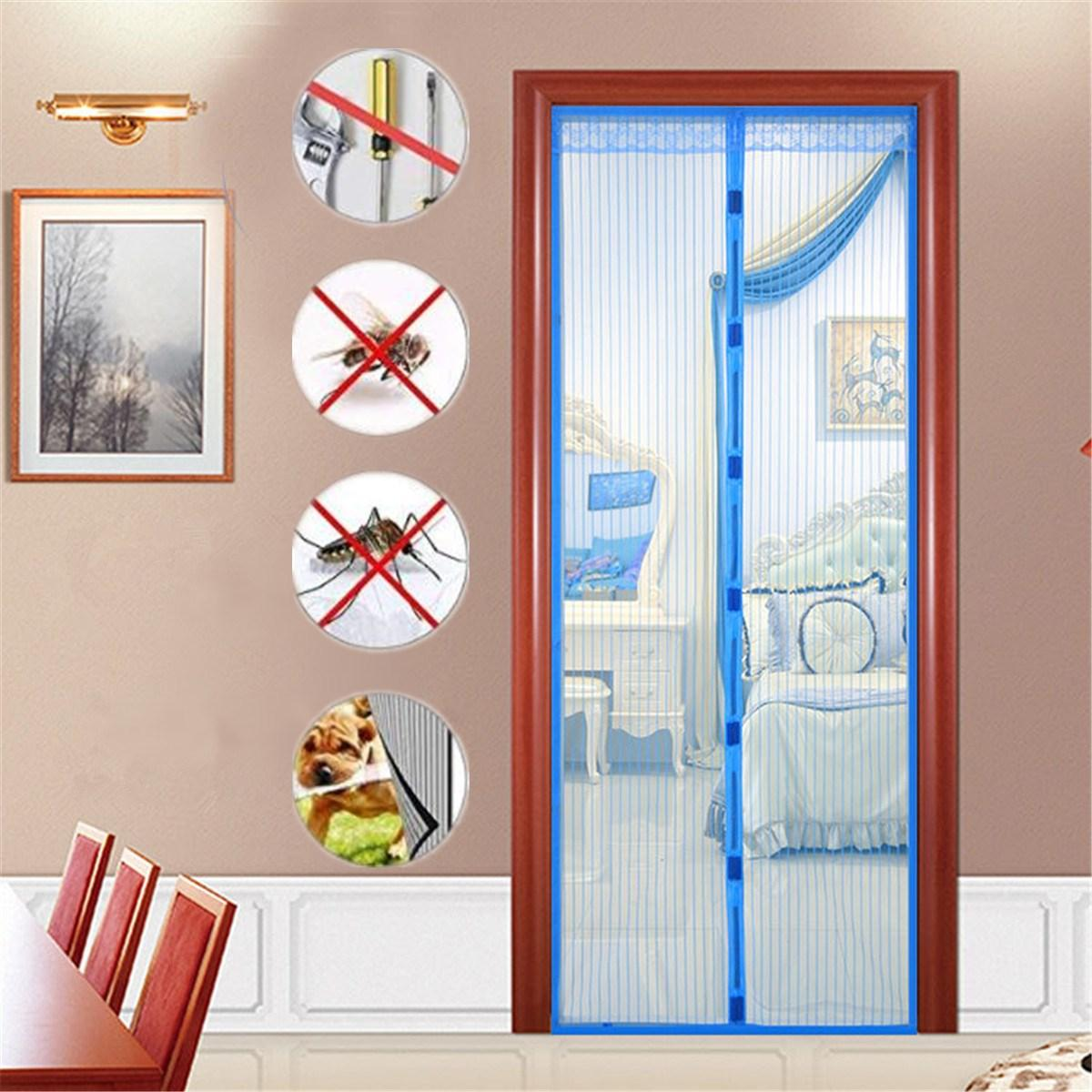 Magic Hands Free Magnetic Mosquito Door Curtains Screen Mesh Nets Anti Bug Insect