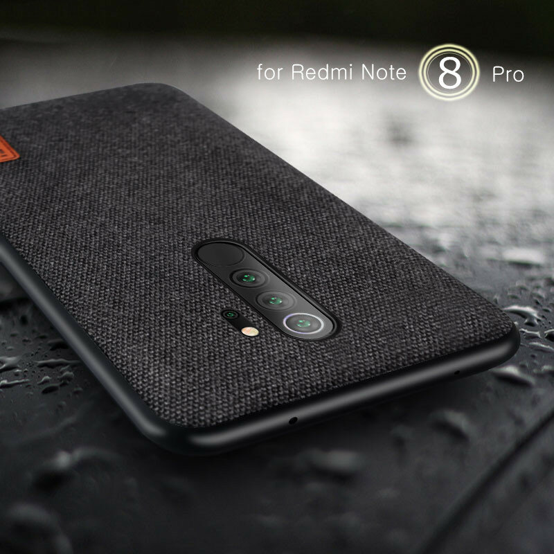 Bakeey Empalme de tela de lujo Soft Silicona Borde a prueba de golpes protector Caso para Xiaomi Redmi Note 8 Pro
