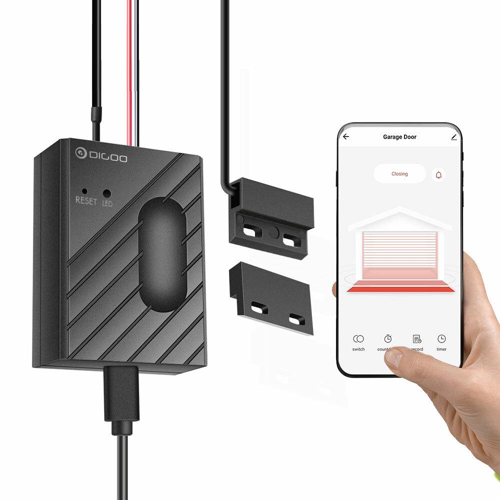 DIGOO GD-CK400 Garageportmotor Trådløst internet Smart Controller Sensor APP Fjernbetjening Timing switch Arbejder med Tuya Amazon Alexa Google Startside