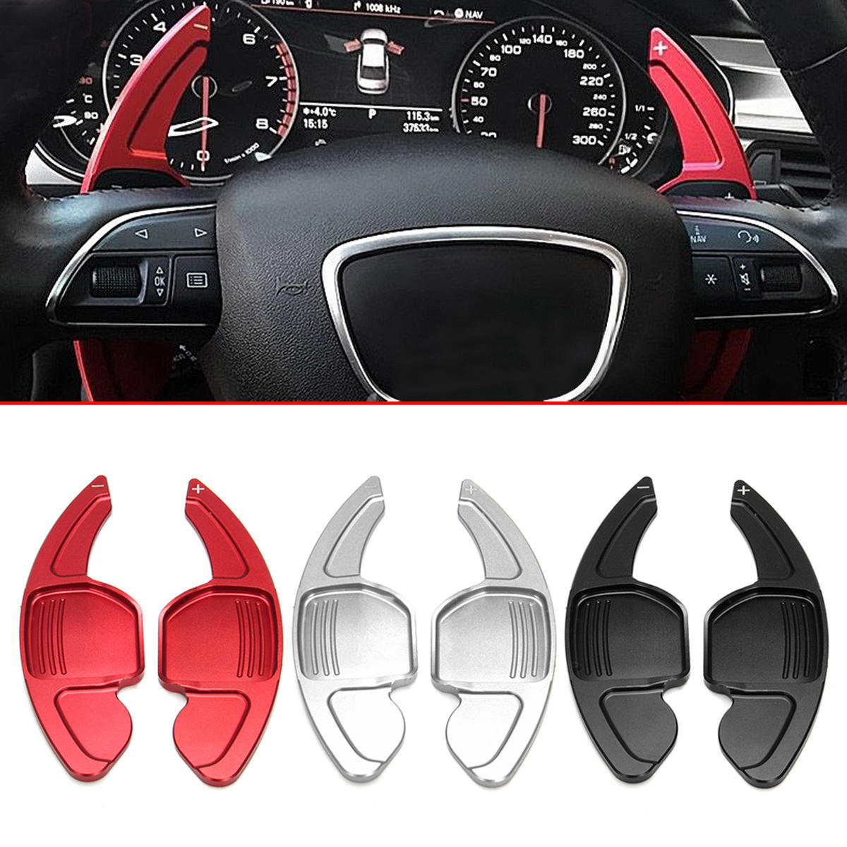 Steering Wheel Shift Gear paddle Extension Audi A6 S6 A5 S5 A4 S4 Q5 before 2012