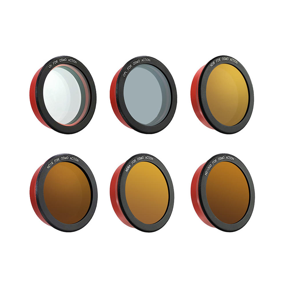 PULUZ Professional Camera Lens Filter UV CPL ND8 ND16 ND64 for DJI Osmo Action Sports Camera
