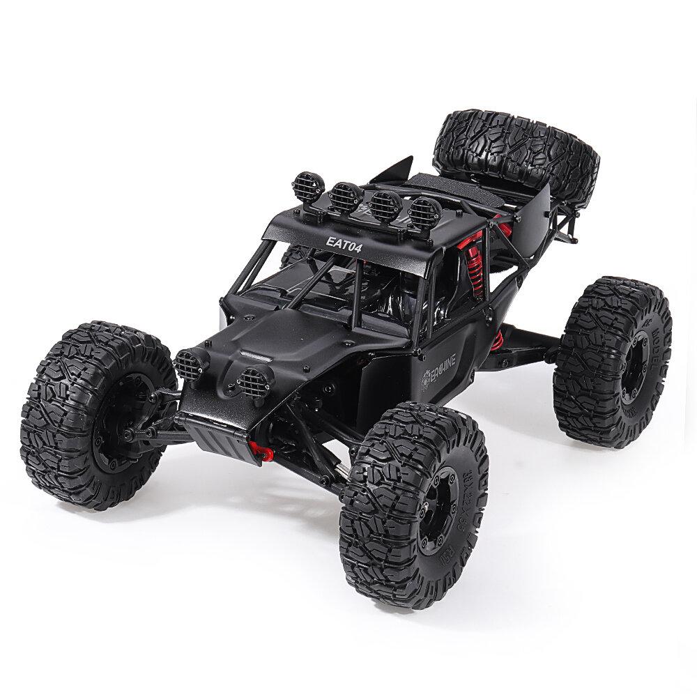 Eachine EAT04 1/12 2.4G 4WD Brush Rc Car Metal Body Shell Desert Off-road Truck RTR Toy Black