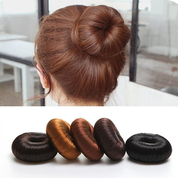 Women Girl's Hairpiece Bun Ring Donut Shaper Hair Styler Accessories