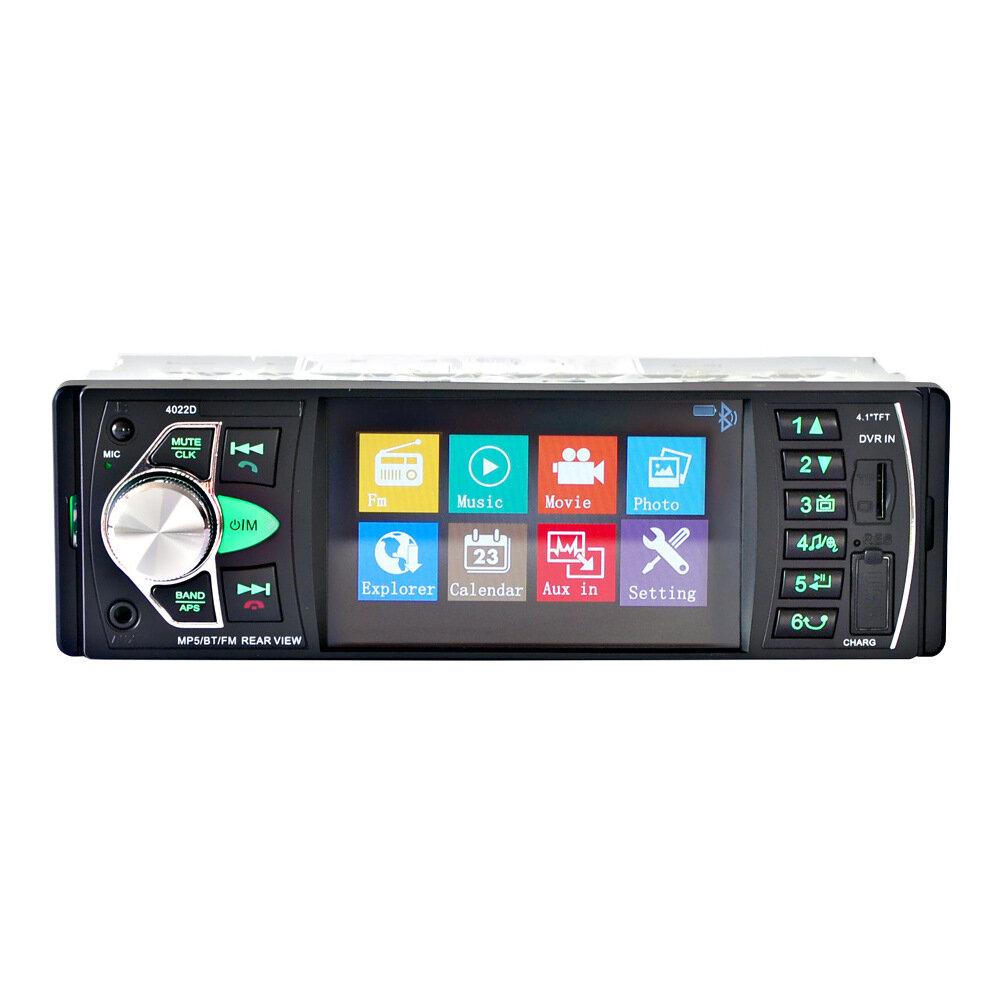 iMars 4.1 inch 1 Din Car Radio Auto Audio MP5 Player bluetooth Handsfree USB AUX Steering Wheel Control with 12 LED Rear Camera