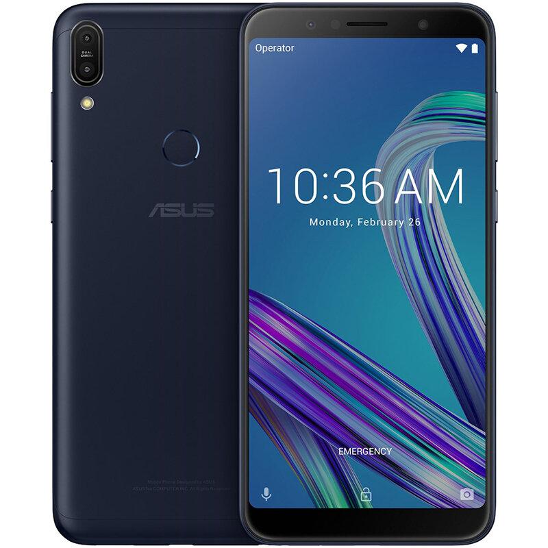ASUS ZenFone Max Pro (M1) ZB602KL Global Version 6,0 tommer FHD + 5000mAh 16MP + 5MP Dual bagkameraer 4GB RAM 64GB ROM Snapdragon 636 Octa Core 4G Smartphone