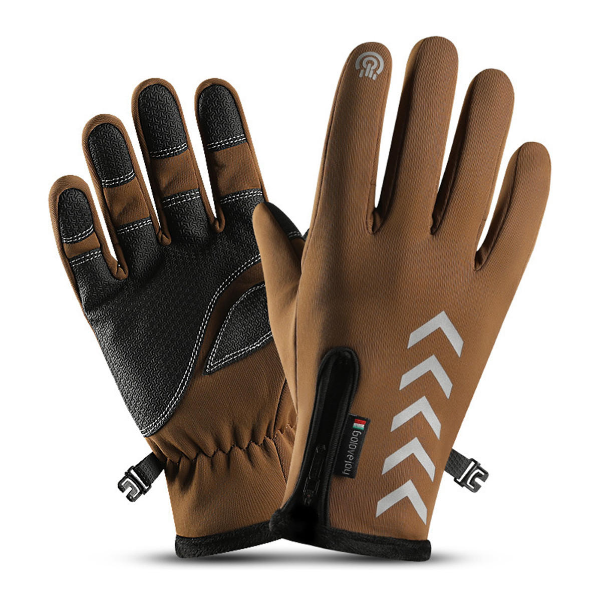 Wind-stoper Gloves Anti-slip Windproof Thermal Warm Touchscreen Breathable Gloves фото