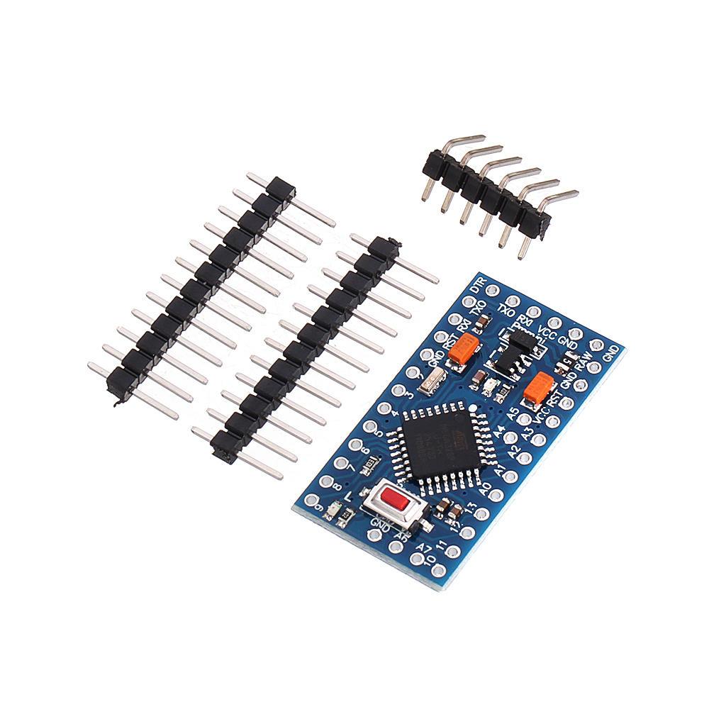 3Pcs 3.3V 8MHz ATmega328P-AU Pro Mini Microcontroller With Pins Development Board For