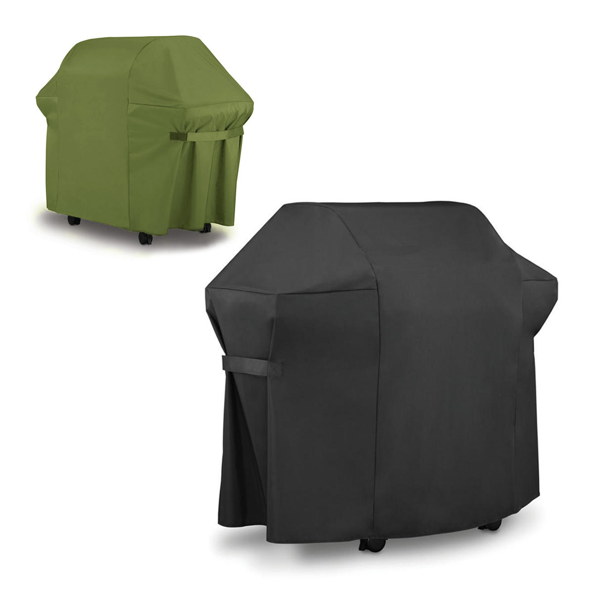 Image of BBQ Grill Cover For Weber 7553 / 7107 Black Green Gas Grills Outdoor Waterproof Furniture Waterproof Cover