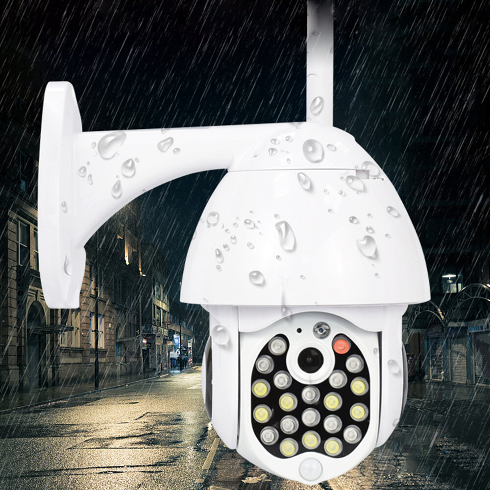 Kamera IP GUUDGO 21 LED 8X Zoom WiFi Dome Kamera monitorująca Full Color Night Vision IP66 Wodoodporna rotacja obrotu / pochylenia
