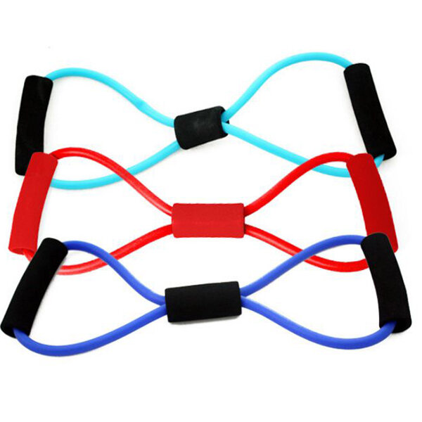 Fitness Yoga 8 Shape Pull Rope Tube Equipment Gym Exercise  Sport Trainers