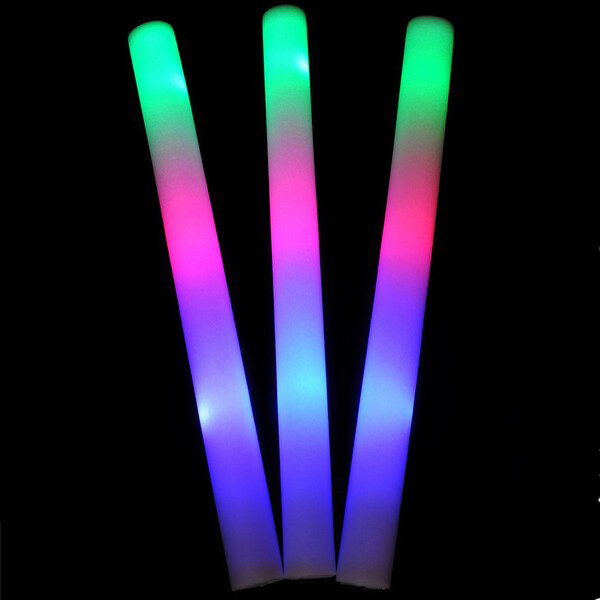 1pc LED Colorful Cheering Glow Flashing Foam Stick for Concert Party Decoration Toys фото