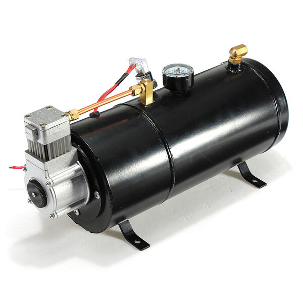 Air Horn Compressor >> 12volt 120psi Air Compressor 0 7 Gallon Tank Pump For Air Horn Vehicle Truck