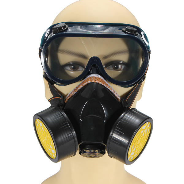 Spray Paint Mask >> Dual Anti Dust Respirator Mask Glasses Set Spray Paint Industrial Gas