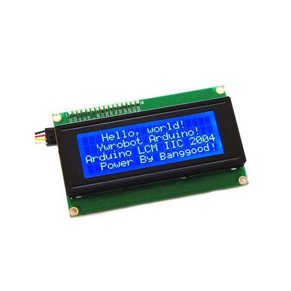 IIC I2C 2004 204 20 x 4 Character LCD Display Screen Module Blue Geekcreit for Arduino - products that work with official Arduino boards