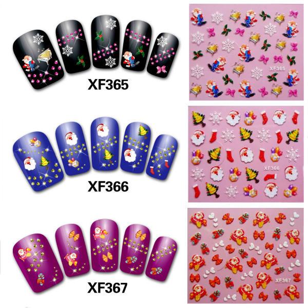 50Pcs Christmas Series 3D Nail Art Decoration Sticker
