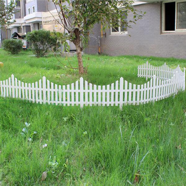 33cm Plastic White Plug In Fence Garden Decoration Fence