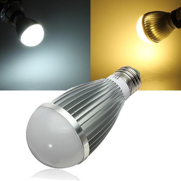 E27 Dimmable 7W Warm White/White AC 220V LED Globe Light Bulbs