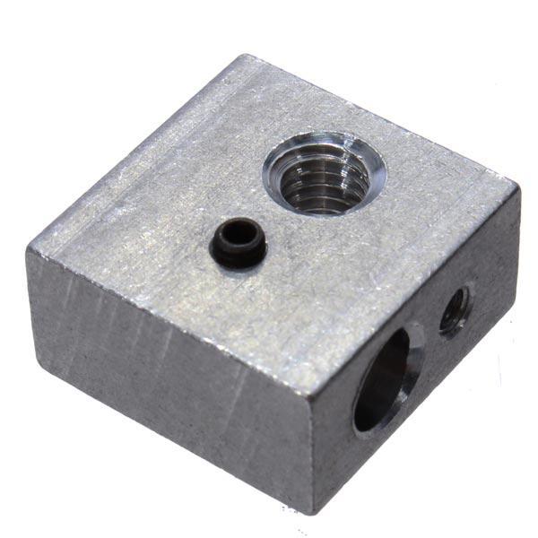 MK7/MK8 20*20*10mm Aluminum Heating Block For 3D Printer