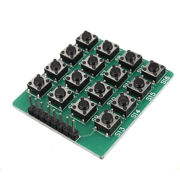 4 x 4 16-Key Matrix Keypad Keyboard Module 16 Buttons Geekcreit for Arduino - products that work with official Arduino boards
