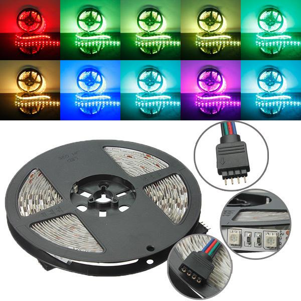 5M RGB No-Impermeable 300 LED SMD 5050 LED Tira de la Luz DC 12V